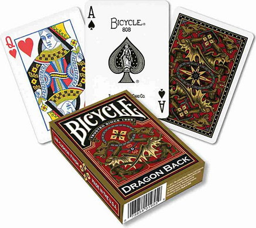 Bicycle Dragon Back Playing Cards, Gold cards