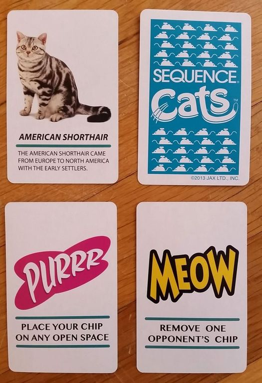 Sequence Cats cards