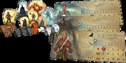 Legends of Andor: New Heroes components
