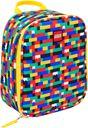 Red/Blue Brick Print Lunch Bag