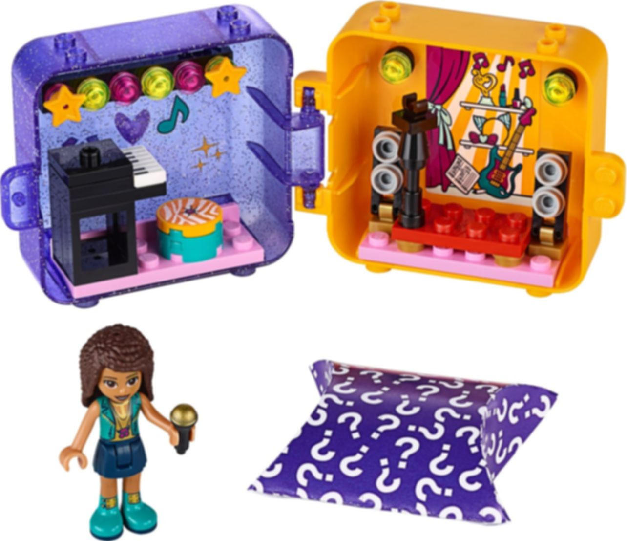 LEGO® Friends Andrea's Play Cube components