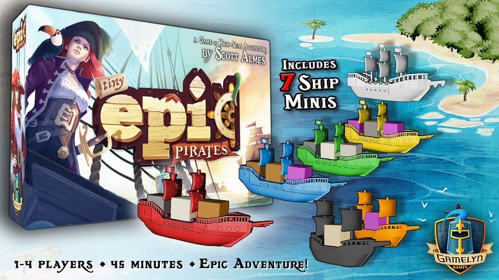 Newest game in the Tiny Epic series revealed with a pirate setting