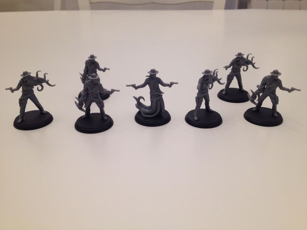 Shadows of Brimstone: The Scafford Gang Deluxe Enemy Pack miniatures