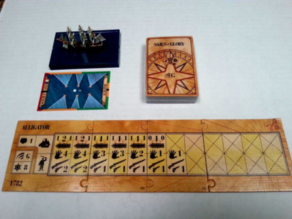 Sails of Glory Ship Pack: Alligator 1782 / Le Fortune 1780 components