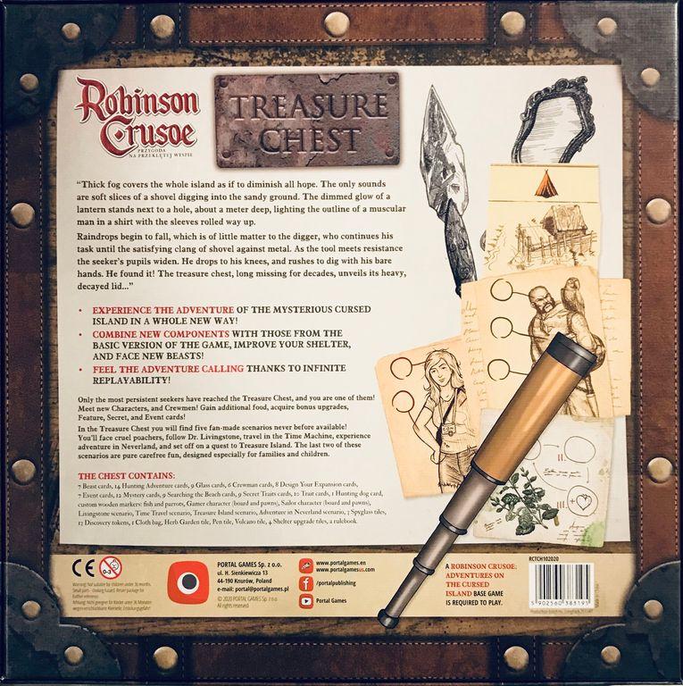 Robinson Crusoe: Adventures on the Cursed Island – Treasure Chest back of the box