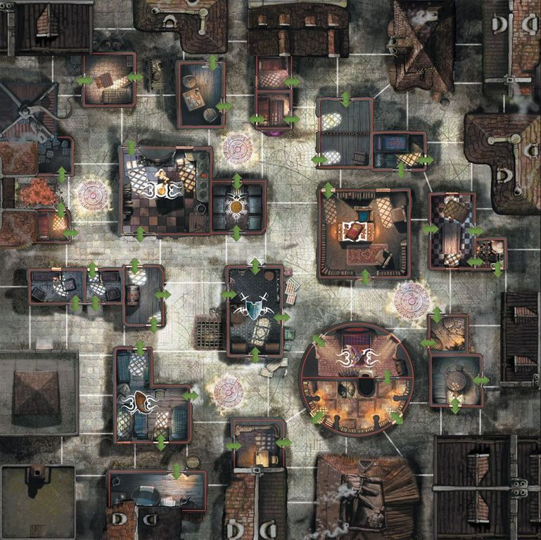 Cadwallon: City of Thieves game board