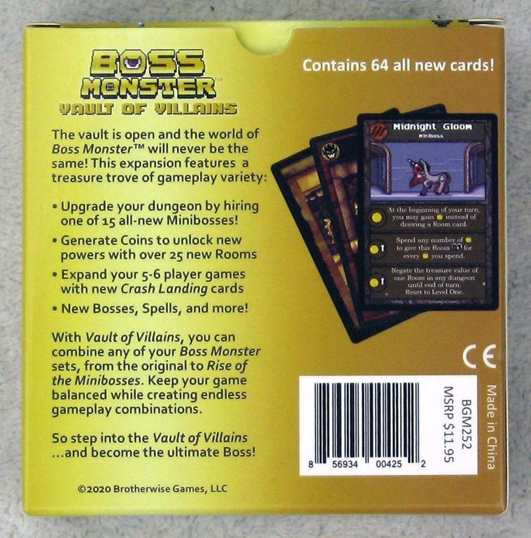 Boss Monster: Vault of Villains rückseite der box
