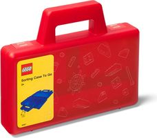 Transparent Red Sorting Case To Go