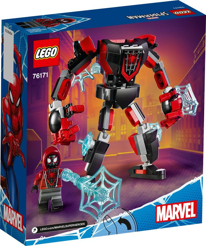Miles Morales Mech Armor back of the box