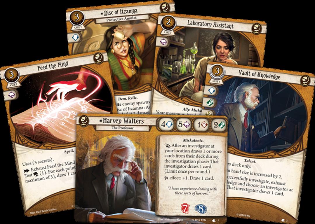 Arkham Horror: The Card Game – Harvey Walters: Investigator Starter Deck cards