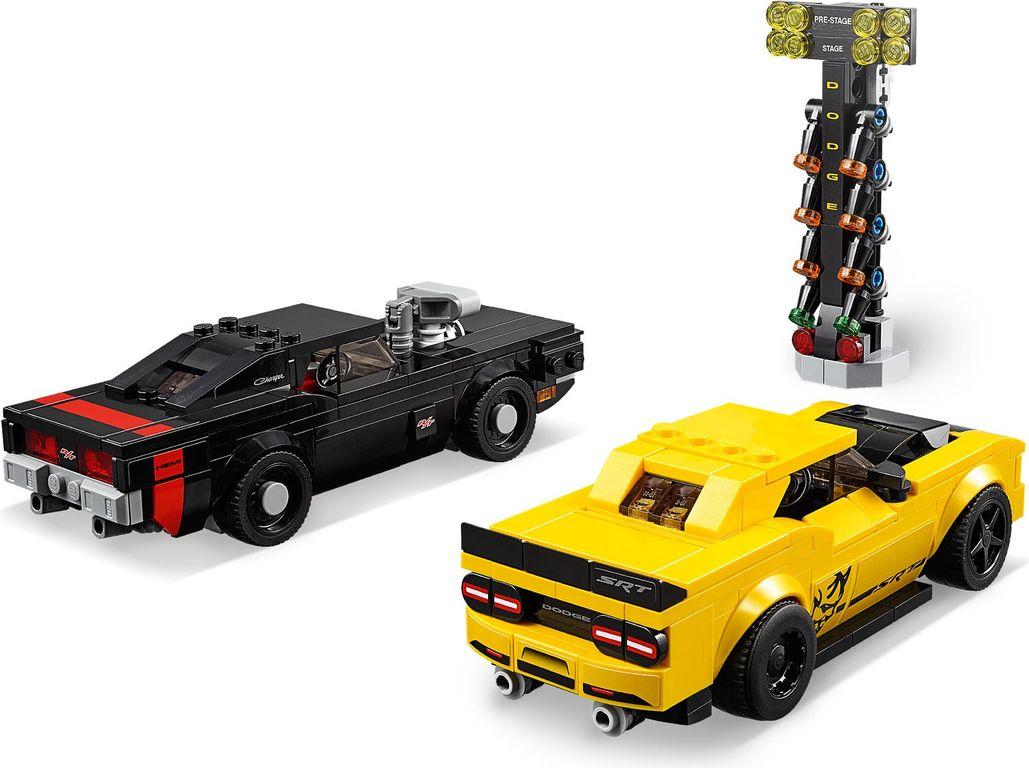 LEGO® Speed Champions 2018 Dodge Challenger SRT Demon en 1970 Dodge Charger R/T back side