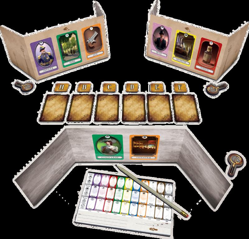 13 Clues components