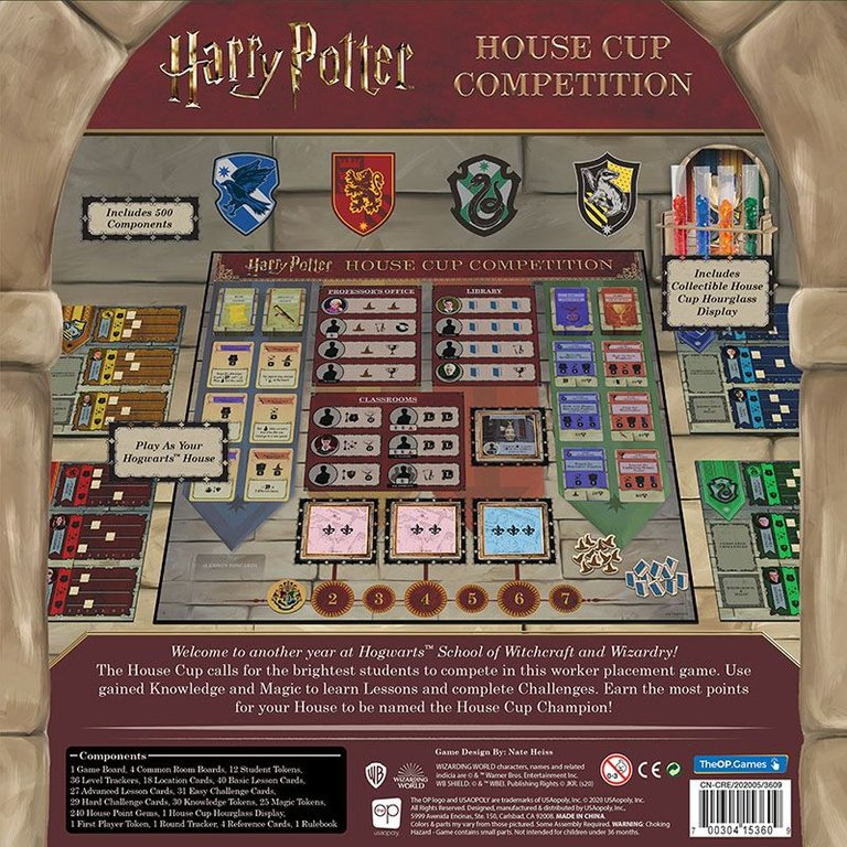 Harry Potter: House Cup Competition back of the box