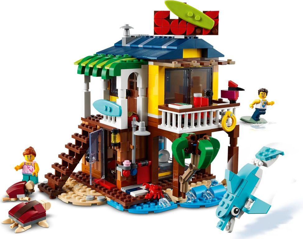LEGO® Creator Surfer Beach House gameplay