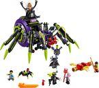 LEGO® Monkie Kid Spider Queen's Arachnoid Base components