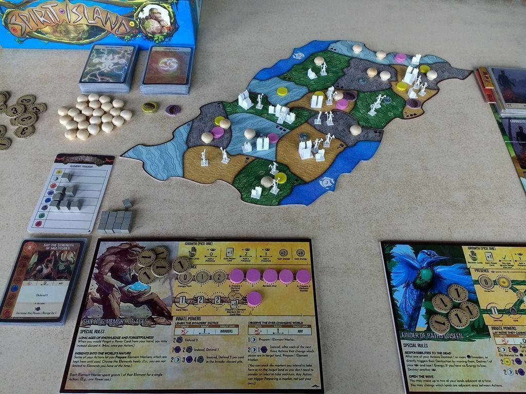 Spirit Island: Jagged Earth components