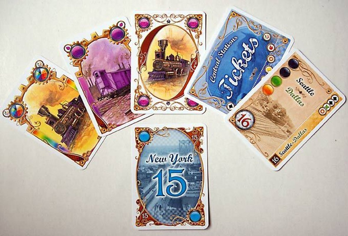 Ticket to Ride: The Card Game kaarten