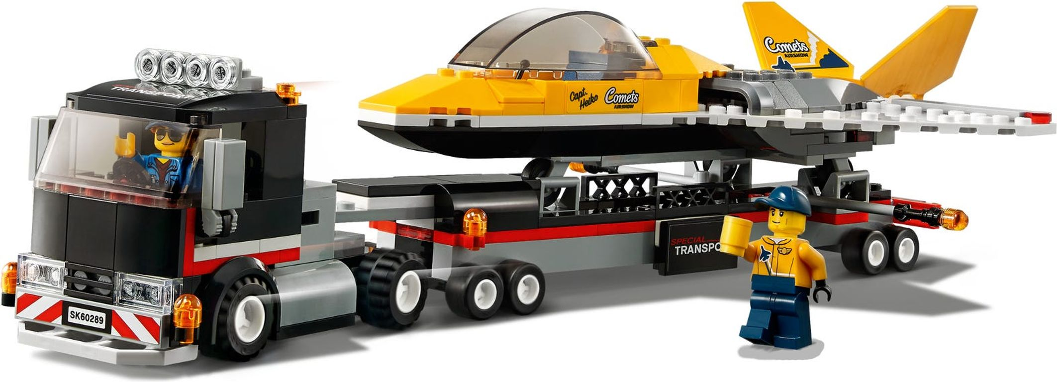 LEGO® City Airshow Jet Transporter components