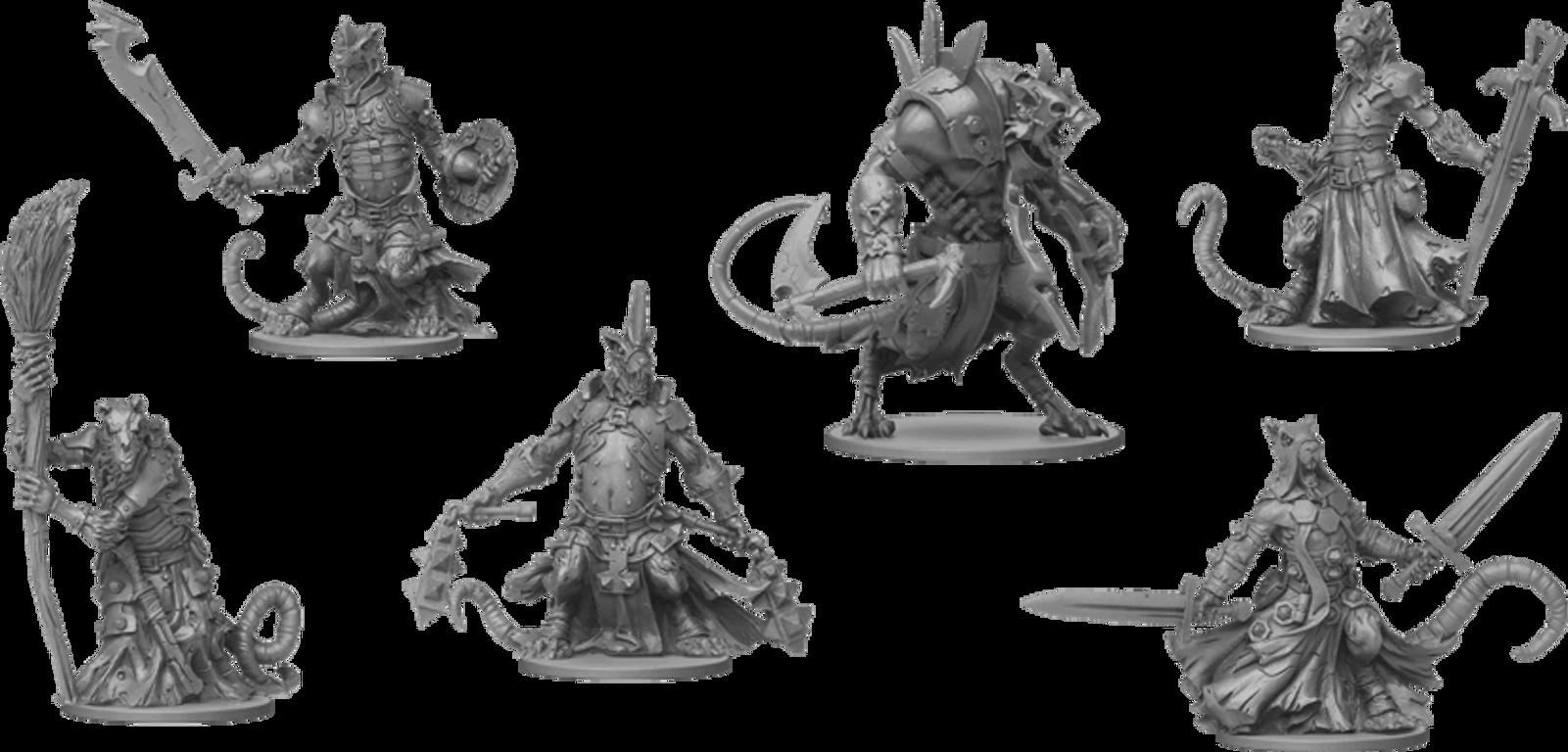 Massive Darkness: Enemy Box - Ratlings miniaturen