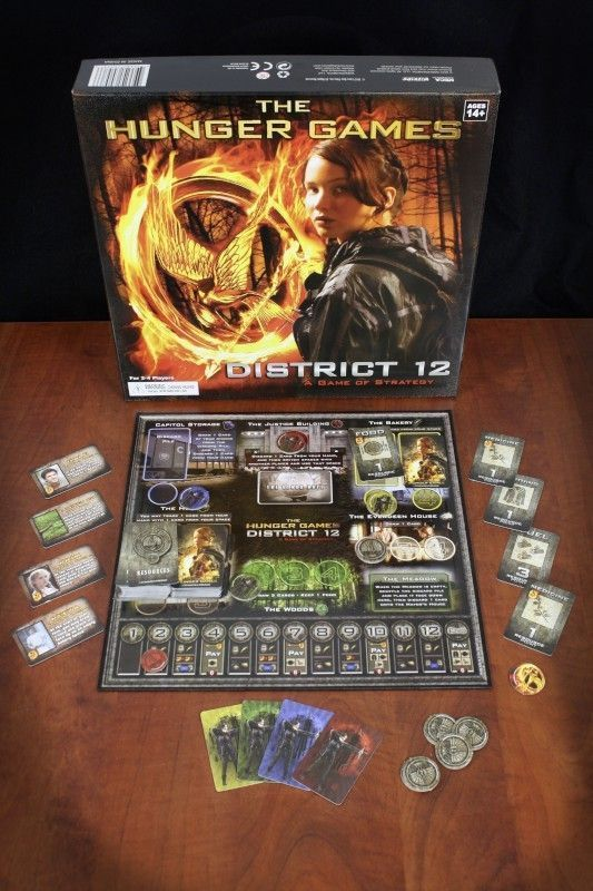 The Hunger Games: District 12 Strategy Game components