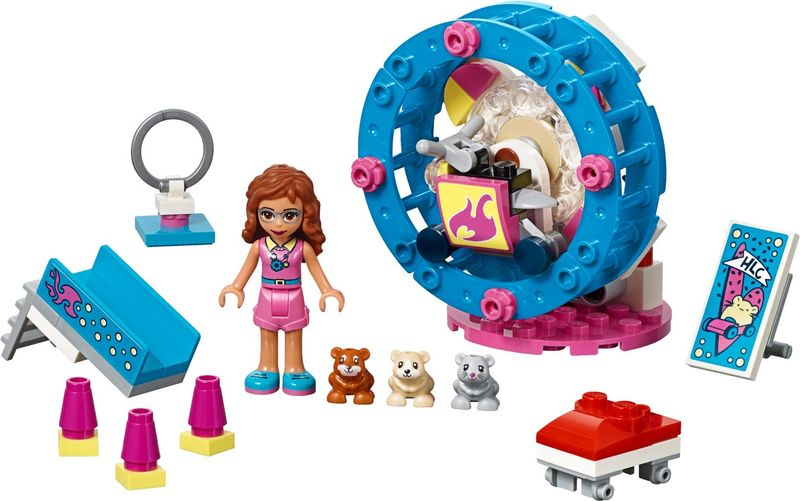 LEGO® Friends Olivia's Hamster Playground components