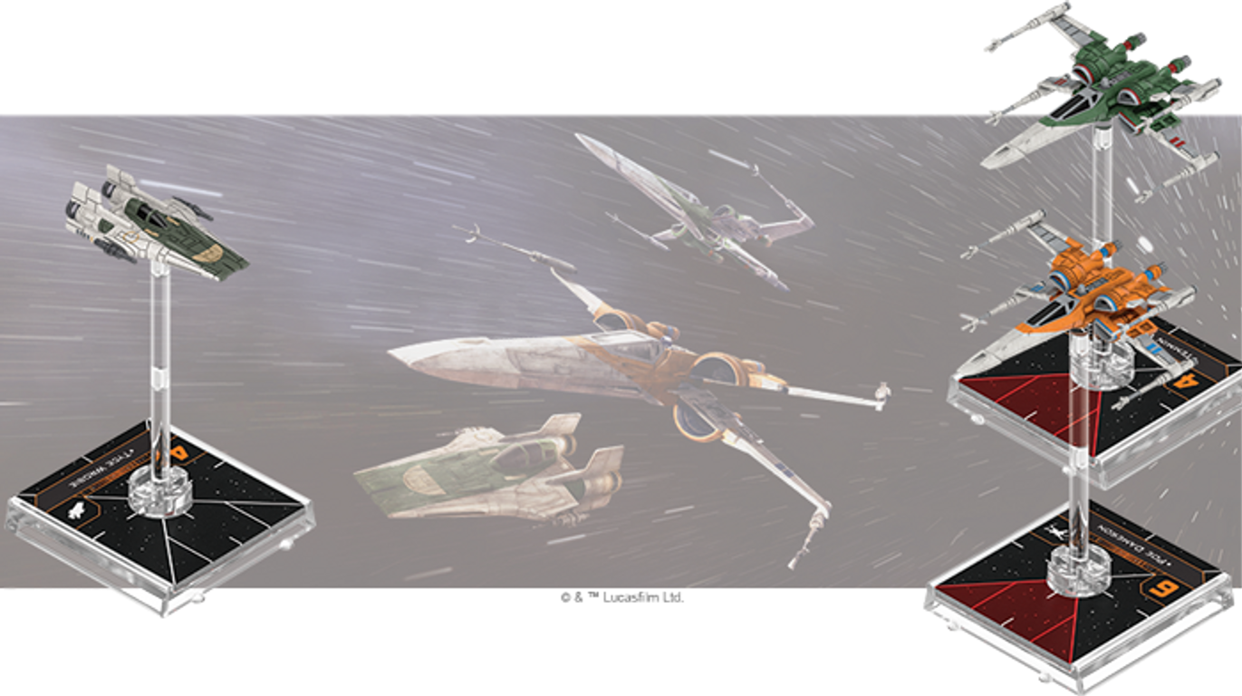 Star Wars: X-Wing (Second Edition) – Heralds of Hope Squadron Pack miniatures