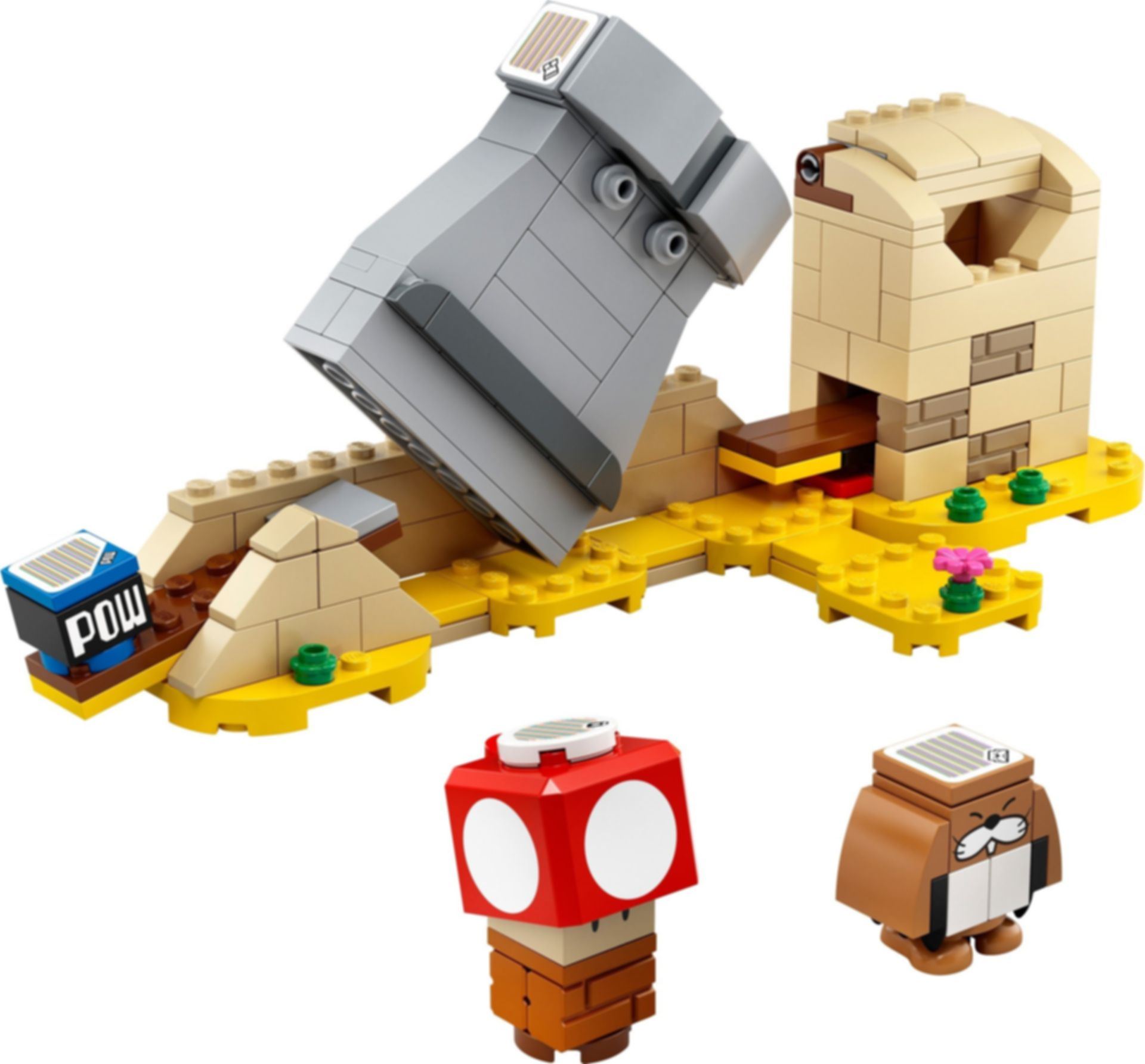 LEGO® Super Mario™ Monty Mole & Super Mushroom components