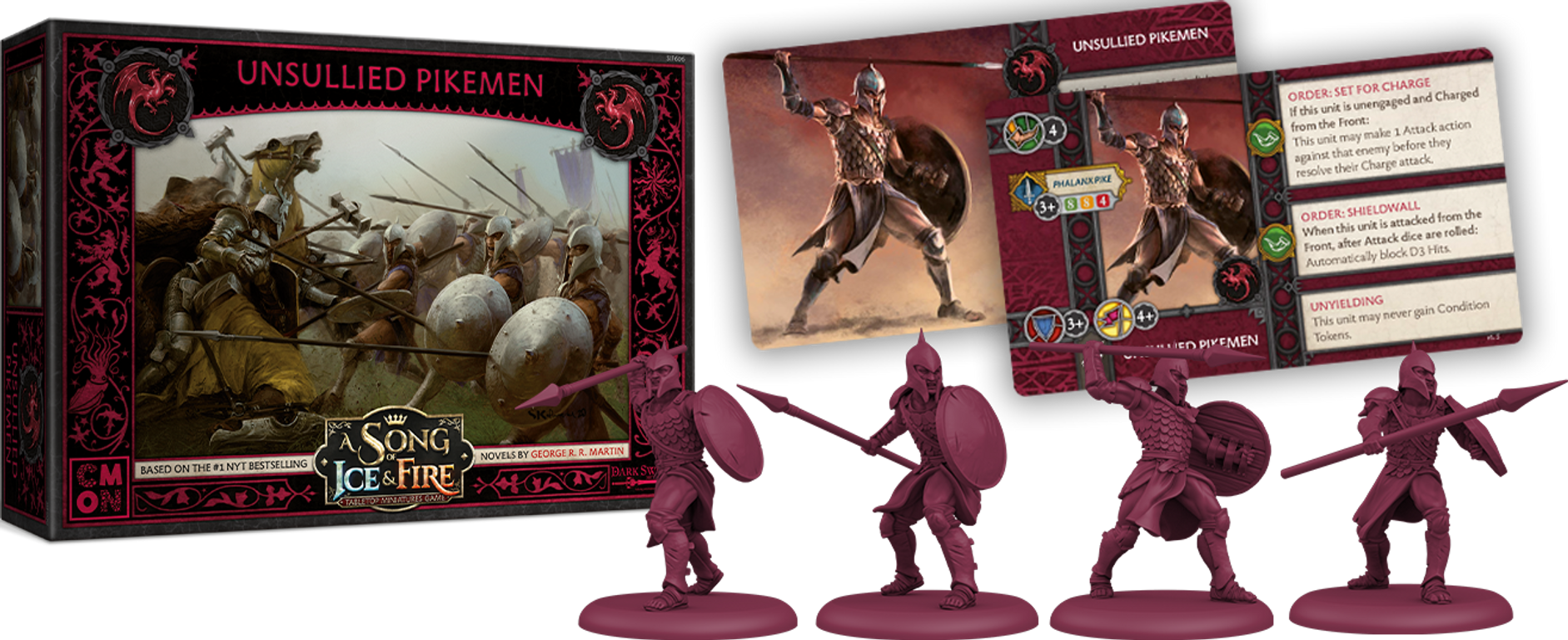 A Song of Ice & Fire: Tabletop Miniatures Game – Targaryen Unsullied Pikemen components