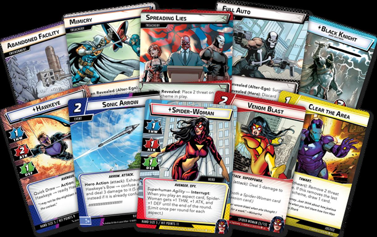 Marvel Champions: Il Gioco di Carte – L'Ascesa del Teschio Rosso carte
