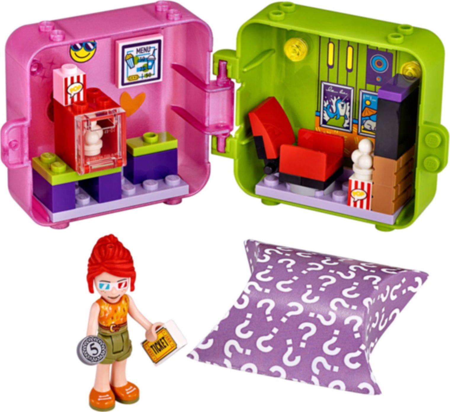 Mia's Shopping Play Cube components