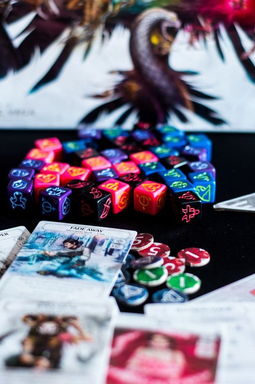 Ashes: Rise of the Phoenixborn components