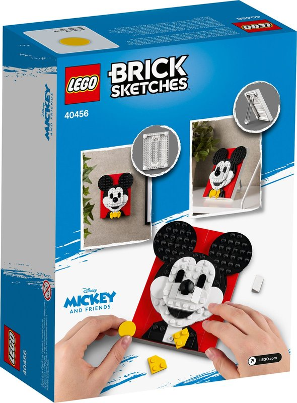 Mickey Mouse back of the box