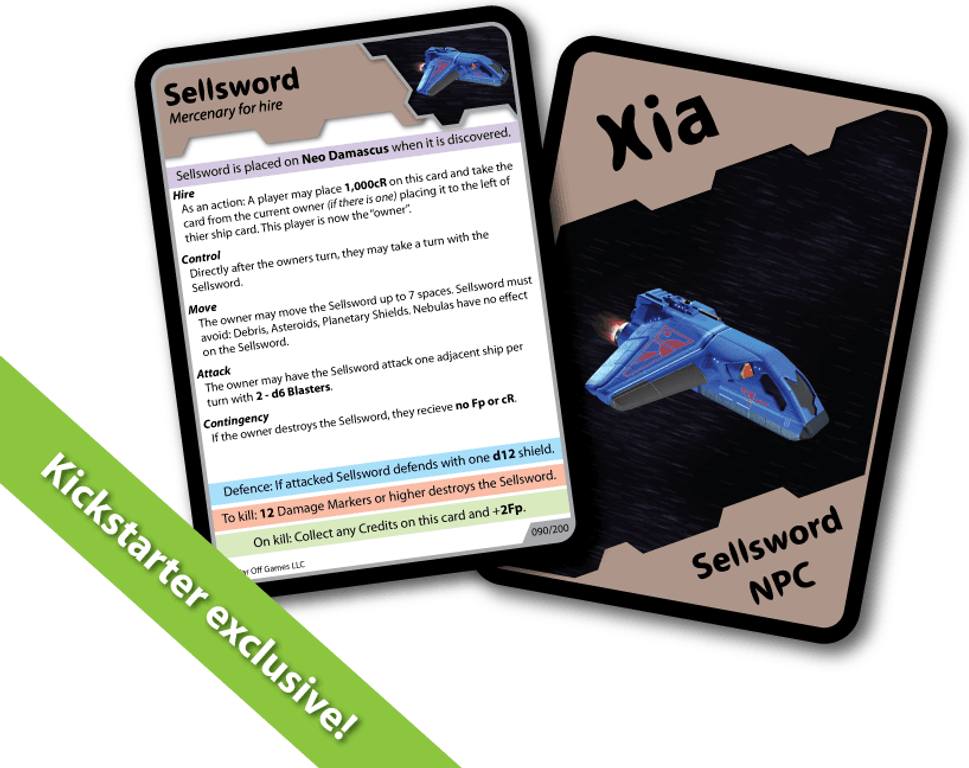 Xia: Legends of a Drift System - Sellsword cards