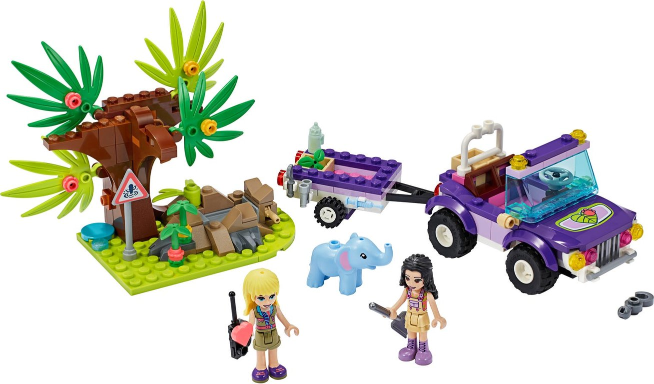 LEGO® Friends Baby Elephant Jungle Rescue components