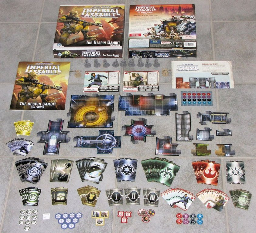 Star Wars: Imperial Assault - The Bespin Gambit components