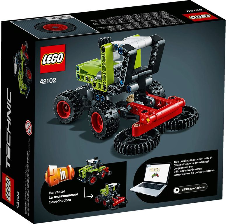 LEGO® Technic Mini CLAAS XERION back of the box