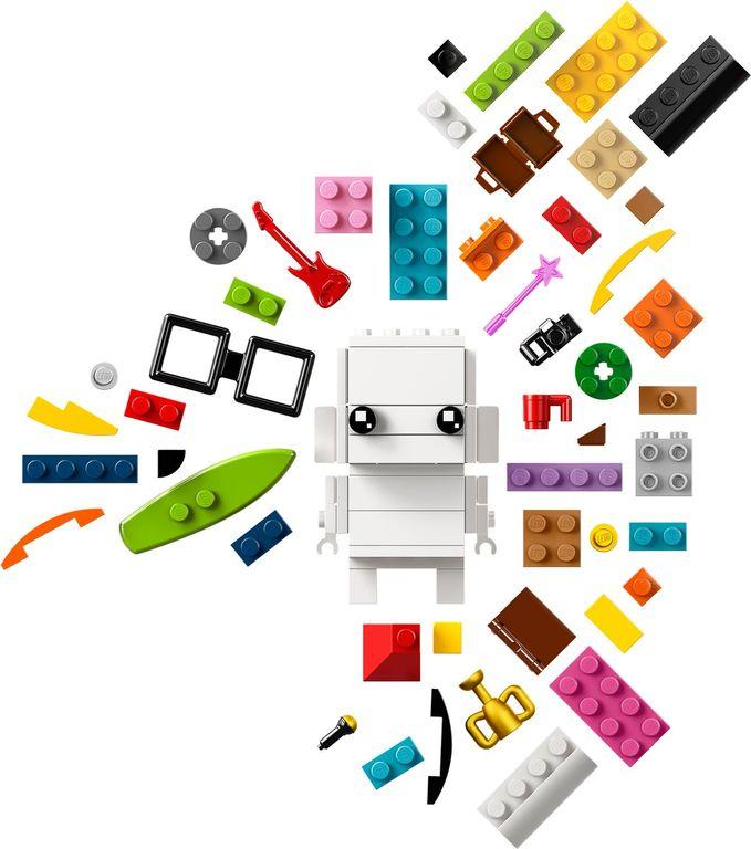 LEGO® BrickHeadz™ Go Brick Me components