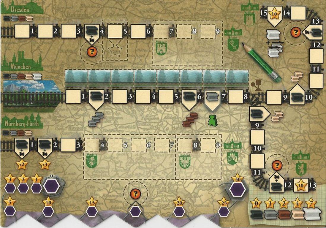 Russian Railroads: German Railroads game board