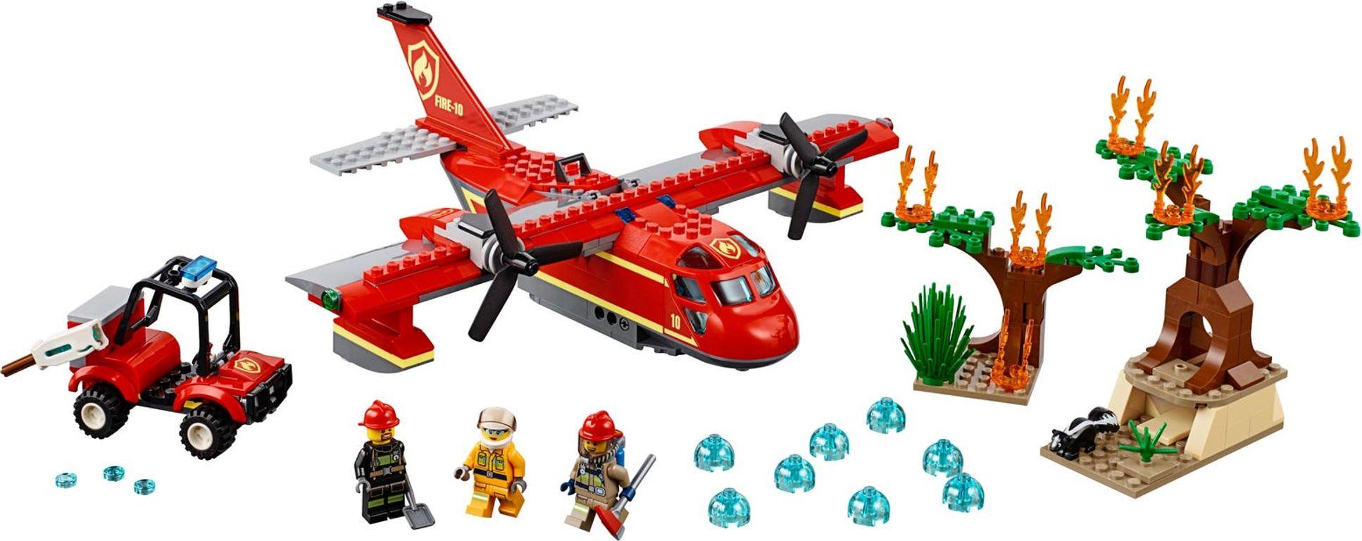 LEGO® City Fire Plane components