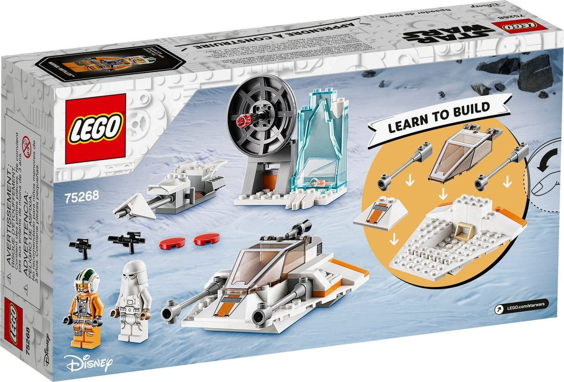 Snowspeeder™ back of the box