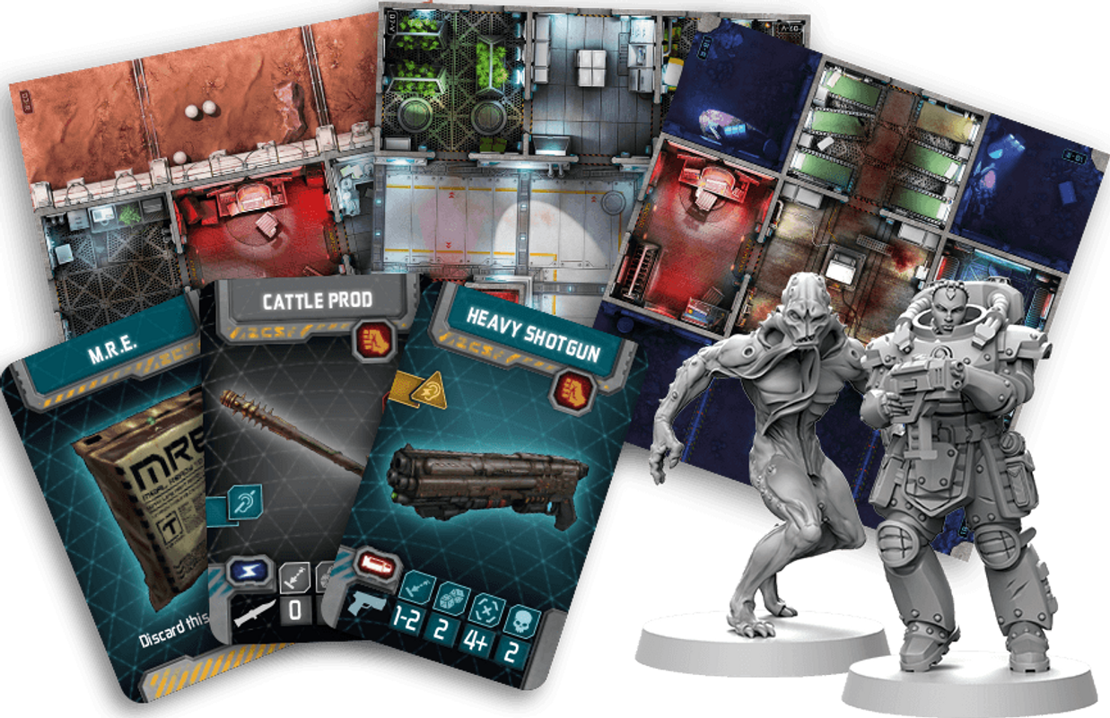 Zombicide: Invader components