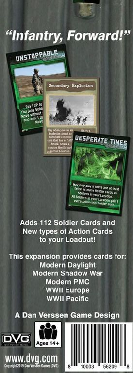 Warfighter: Multi-Era Expansion #1 – Soldiers and Action Cards back of the box
