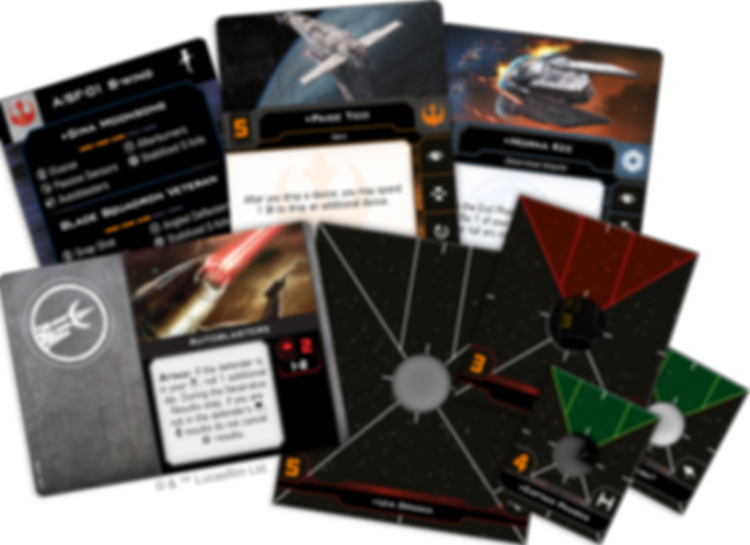 Star Wars: X-Wing (Second Edition) – Hotshots and Aces Reinforcements Pack komponenten