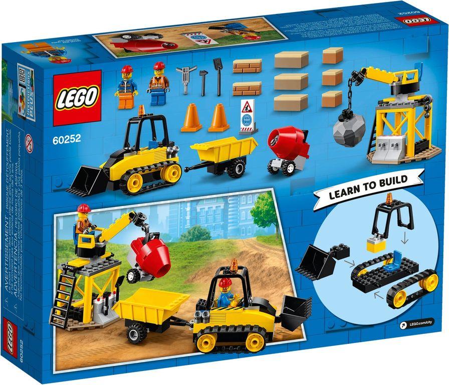 Construction Bulldozer back of the box