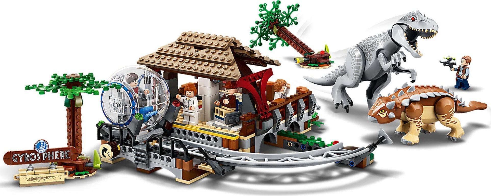 LEGO® Jurassic World Indominus Rex vs. Ankylosaurus gameplay