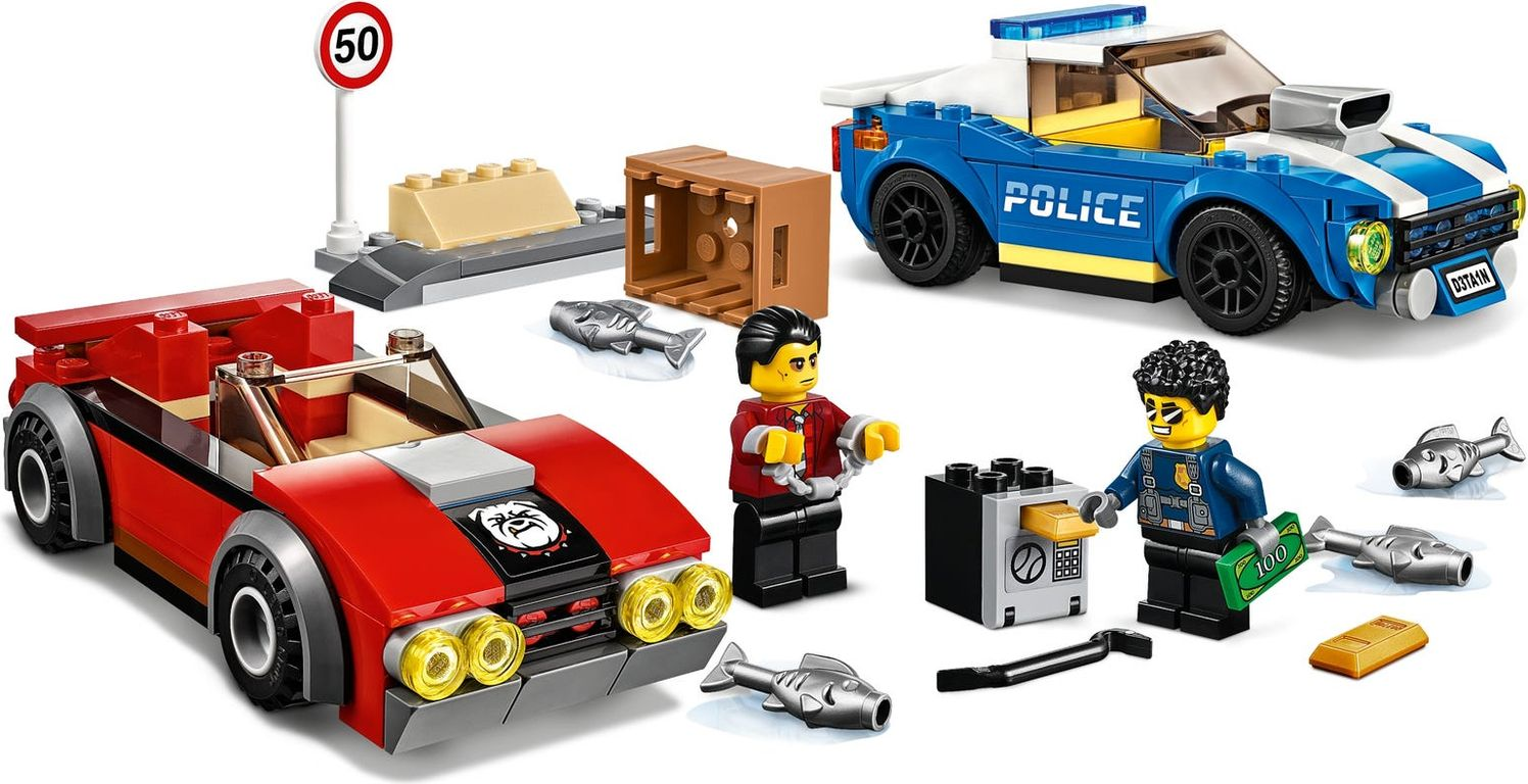 LEGO® City Police Highway Arrest components