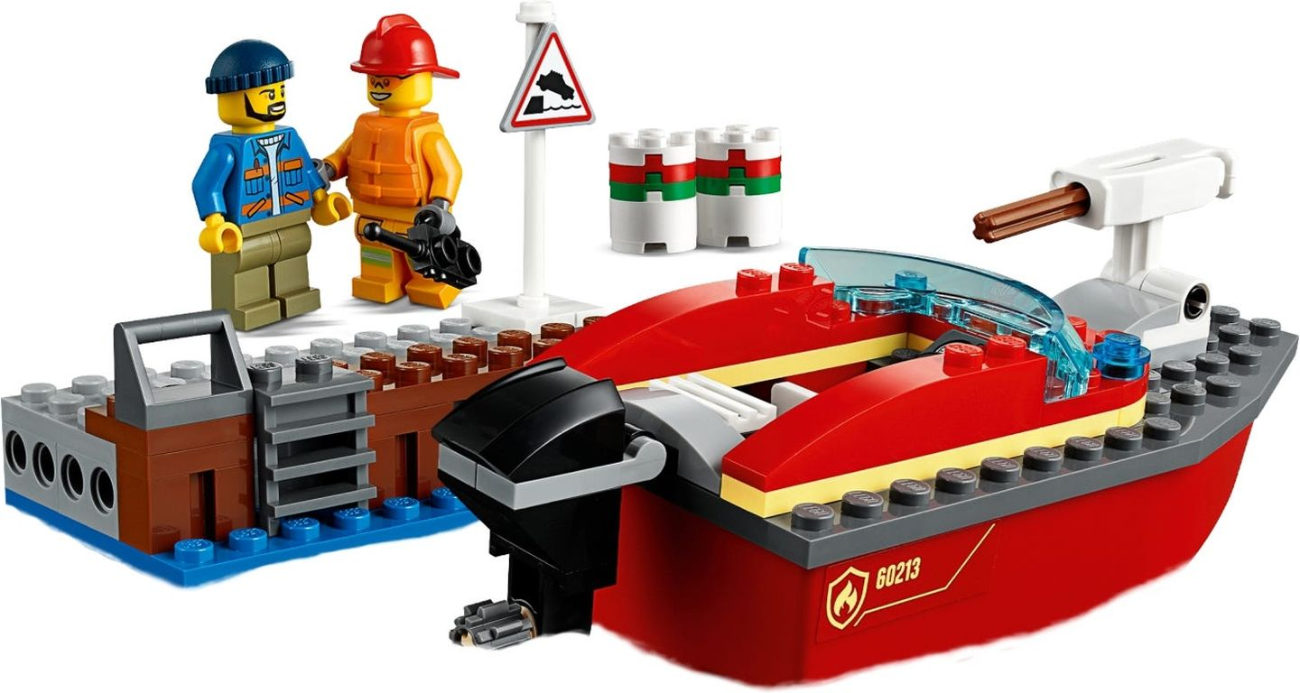 LEGO® City Dock Side Fire components