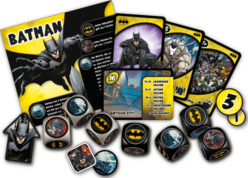 Justice League: Hero Dice - Batman components