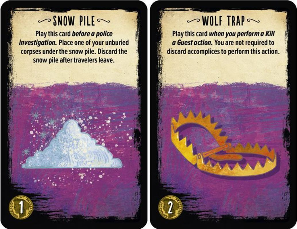 The Bloody Inn: The Carnies cards
