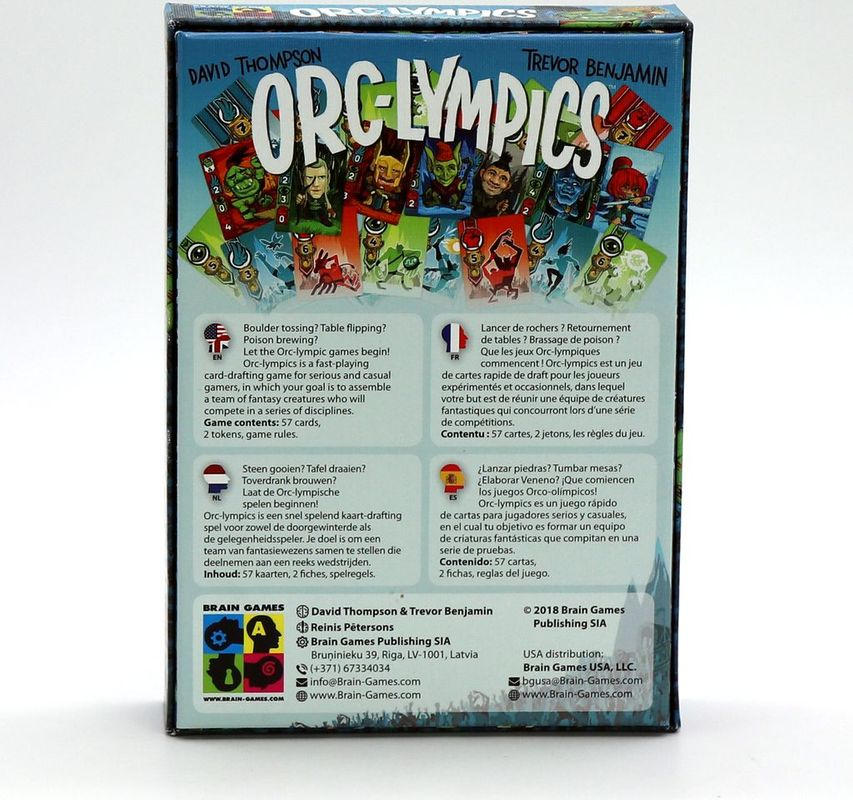 Orc-lympics back of the box